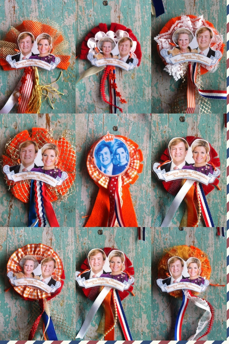 Koninginnedag/queensday broches