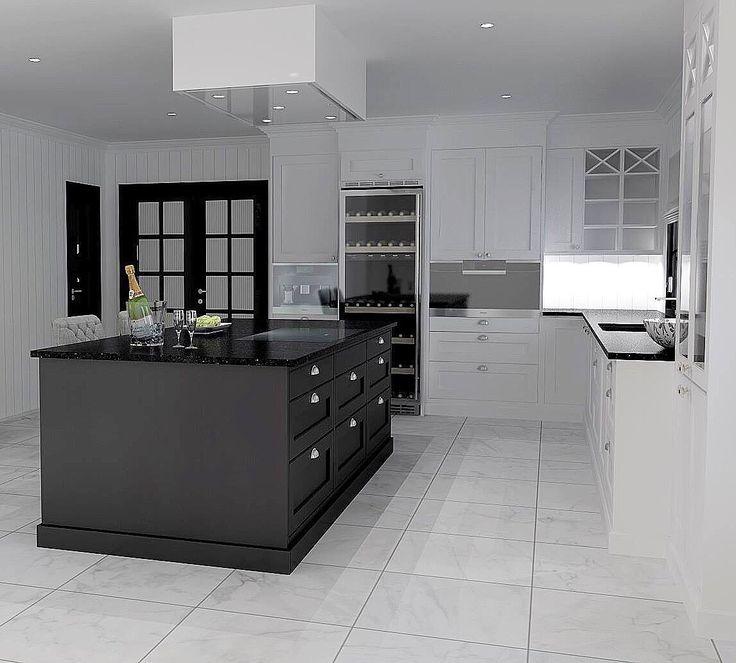 Kitchen design by Nina Th. Oppedal. Fredrikstad, Norway.