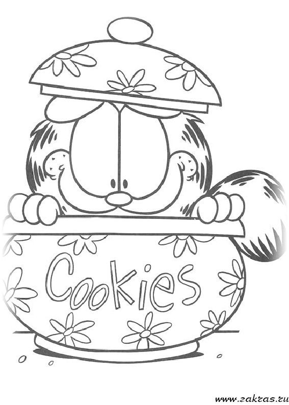 26 best coloriage garfield images on Pinterest
