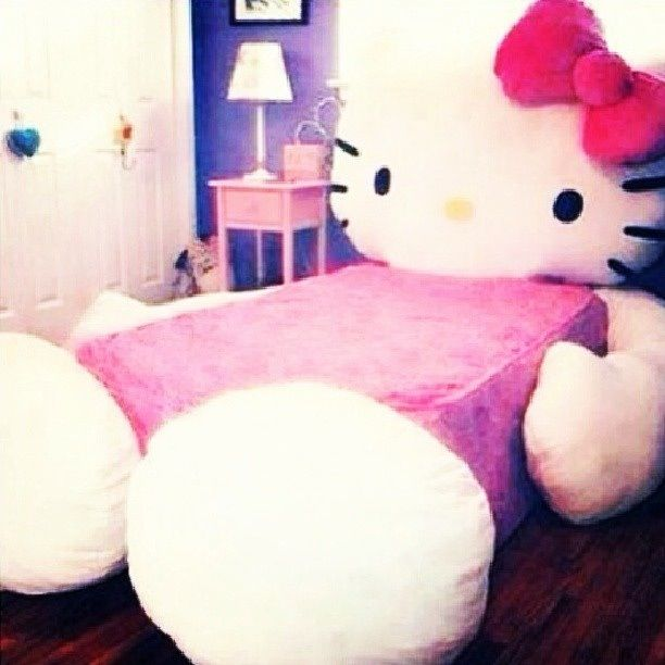 Bedroom Ideas Hello Kitty Soft Bedroom Colors Childrens Turquoise Bedroom Accessories Bedroom Decorating Ideas Gray And Purple: 39 Best HK Themed Room Images On Pinterest