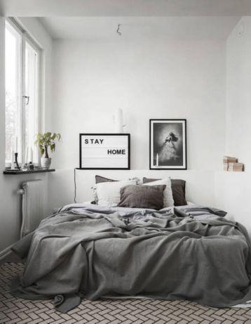 Mind-Blowing Minimalist Bedroom Color Inspiration (21)