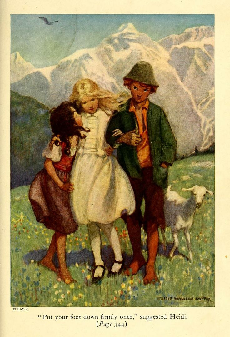 """""""Put your food down firmly once,"""" suggested Heidi - Heidi by Johanna Spyri; published by David McKay Company, 1922"""
