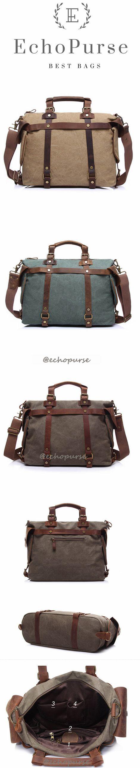 Canvas Travel Handbag, Vintage Large Capacity Crossbody Bag YD1801