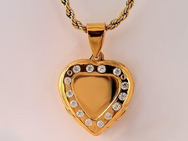 www.arsaura.com  #Relicario ♥ Marco circonios 2mm  plata sólida dorada 25X25 mma.cl