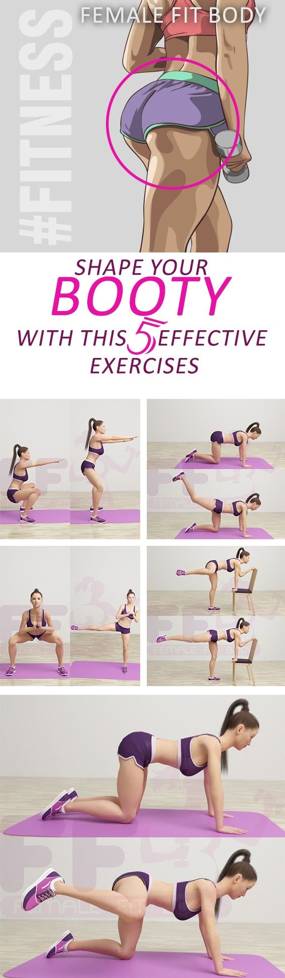 Shape Your Booty With This 5 Effective Exercises