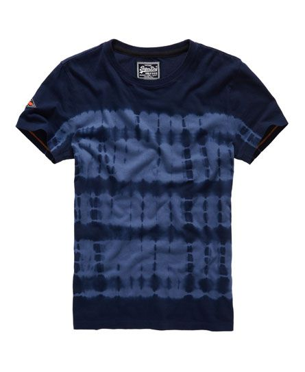 Shop Superdry Mens Orange Label Indigo T-shirt in Dark Tie Dye. Buy now  with free delivery from the Official Superdry Store.