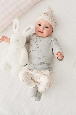Buy Grey Bunny Printed Four Piece Set (0-18mths) online today at Next: United States of America