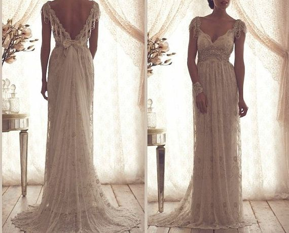 Wedding dress Pure handmade Bridal Ball gown Lace by Tiamodress, $269.00