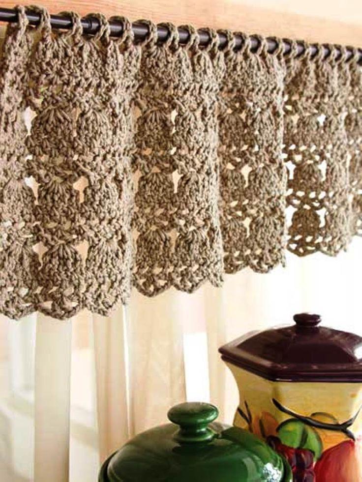 Free Crochet Cafe Curtain Pattern