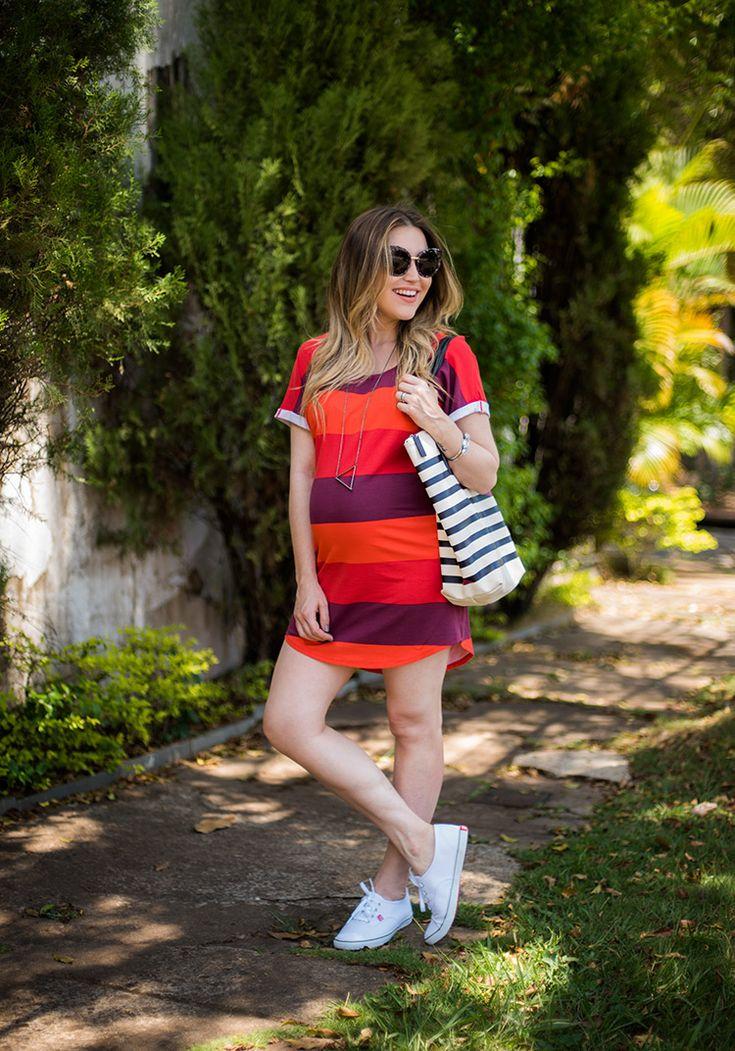 Look da Lu: overdose de listras! Vestido Colcci para Dafiti Bolsa Lacoste para Dafiti Tênis Whoop para Dafiti Óculos Quay Australia Colar Urban Outfitters