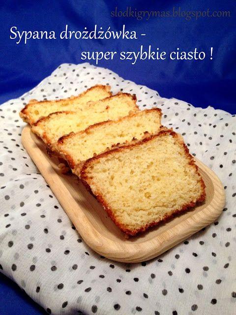 Słodki Grymas: Bardzo szybkie ciasto drożdżowe (sypane) z kruszonką