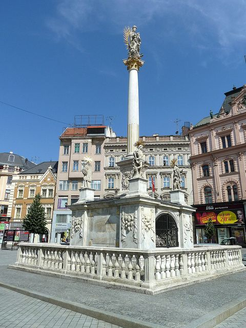 Plague column in Freedom Square, Brno, Czech Republic