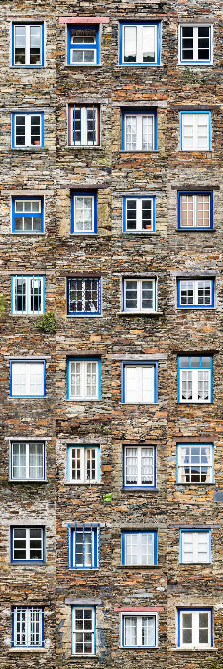 I Traveled All Over #Portugal To Photograph Windows, And Captured More Than 3200 Of Them - via BoredPanda 23-10-2017 | If you are planning a trip to Portugal, you can see which are the most beautiful cities to visit or what kind of architecture you like the most. Photo: Piodao
