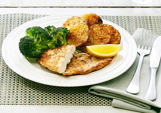 Herb and Parmesan Chicken Schnitzel