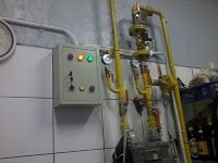 Instalasi gas - Peralatan stainless dapur komersial, instalasi gas, pembuangan asap restoran, exhaust hood, kitchen sink, stainless table