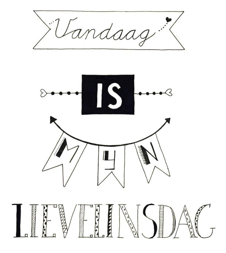 Gemaakt tijdens workshop Handletteren Basis bij Sterrig.nl