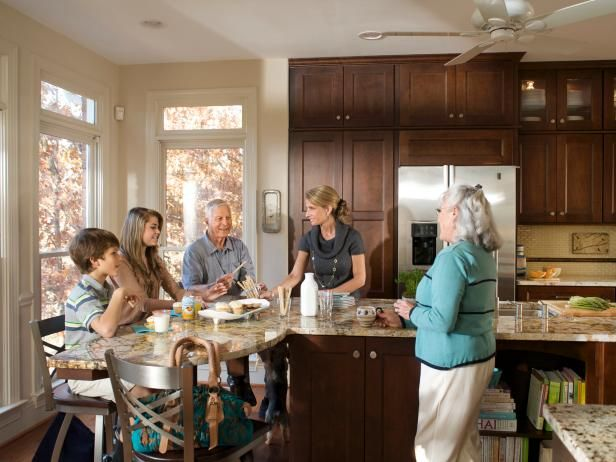 HGTV.com explores a drastic remodel when a retired couple upgrades their boring, builder grade kitchen into a gourmet, kid friendly retreat.
