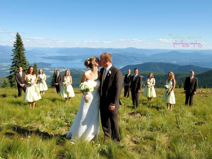 Wedding Location Venues In Idaho Rocky Mountains Schweitzer Mountain