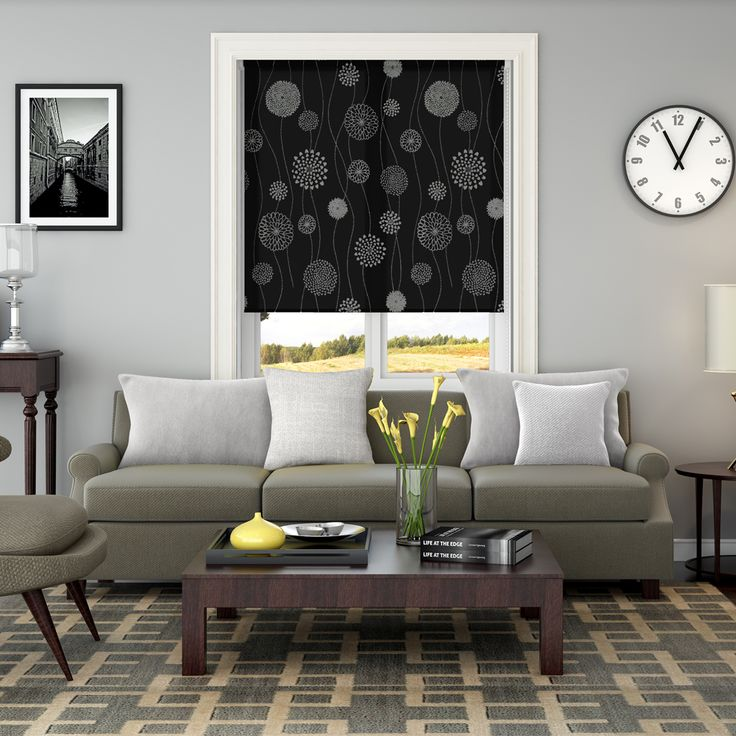 Elegance Black Roller Blinds - Make My Blinds