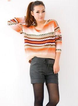 Fashionable Rhinestones Embellished Slender Shorts Grey