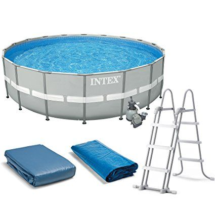 """Intex 20' x 52"""" Ultra Frame Above Ground Swimming Pool Set with Sand Filter Pump"""