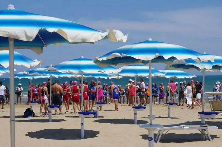 on the #beach, waiting to start the race #swim #triathlon #sport