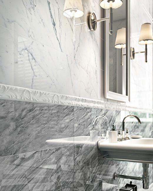 INSPIRE: #luxury wall covering fot this bathroom #marble #marbledesign #marbletiles #designtiles #bathroom