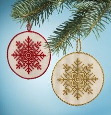 Cross-Stitch Snowflakes