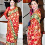 Sharon fernandes latest saree stills