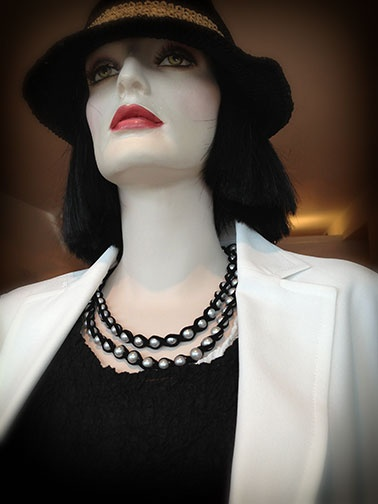 White jacket from Y-3 by Yohji Yamamoto, Top from Cauliflower by Issey Miyake. Double strand of leather-wrapped pearls from Spinelli Kilcollin. Fedora from Christy's Crown Collection #Y3,#y3byyohjiyamamoto#cauliflowerby isseymiyake#japanesefashion#japanesefashiondesigners#womensclothing#highfashion#cauliflower#cauliflowerbyissymiyake#isseymiyake#yohji#yohjiyamamoto#women#girl#model#couture#weathervaneforwomen#santamonica#spinellikilcollin#necklace#pearls#pearlnecklace#jewelry