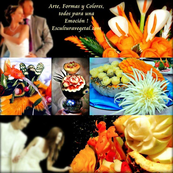 El día de tu matrimonio se grabará para siempre en tu memoria y de tus invitados como también quedará impreso en las fotografías y videos.  Por ello, cuidamos todos los detalles para que esas imágenes sean únicas. Esculturavegetal.com, desea contribuir para que la decoración de tu buffet de boda sea inolvidable.  Con frutas y verduras talladas, convertidas en verdaderas escenografías y esculturas aportamos para que tu boda se recuerde como un evento único. www.esculturavegetal.com