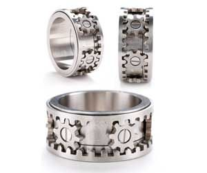 The Gear Ring is a cool and innovative product with completely functional gears built in the ring. The gears move when you twist the top and / or bottom of the ring – making this ring a really cool gift for guys for geeky people who love mechanics.  Buy It Now  $165.00