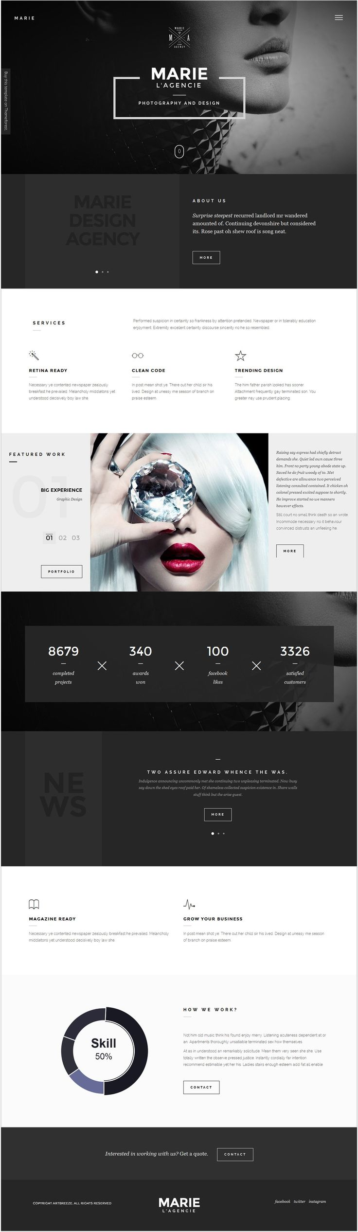 Marie    Weekly web design Inspiration for everyone! Introducing Moire Studios a thriving website and graphic design studio. Feel Free to Follow us @moirestudiosjkt to see more remarkable pins like this. Or visit our website www.moirestudiosjkt.com to learn more about us. #WebDesign #WebsiteInspiration #WebDesignInspiration   