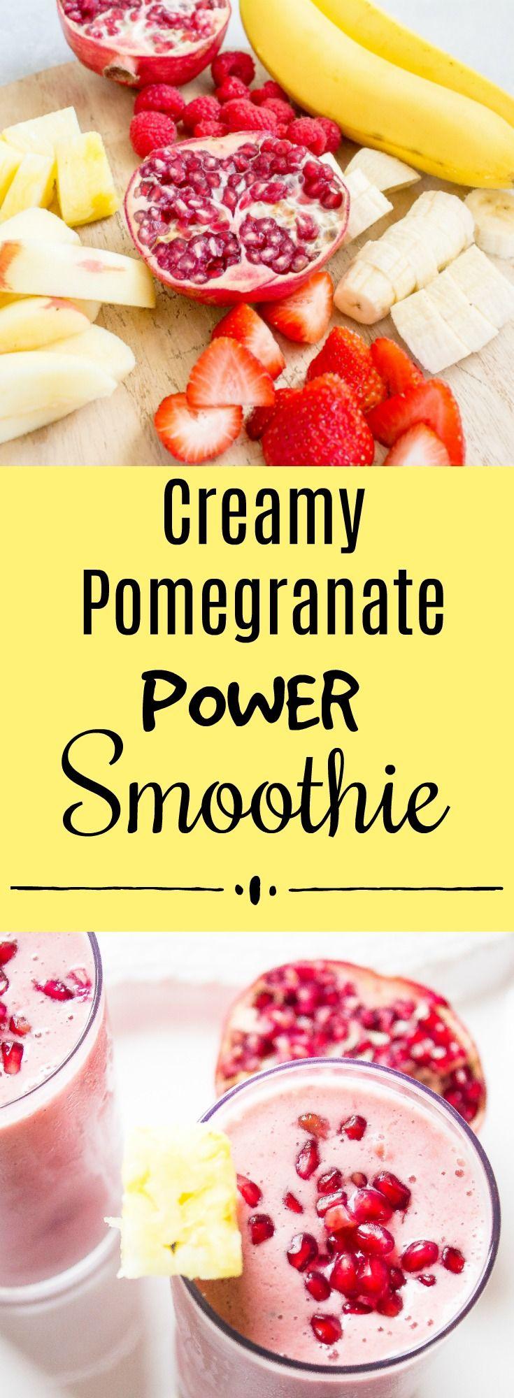Creamy Pomegranate Power Smoothie/ Kathryn's Kitchen Blog
