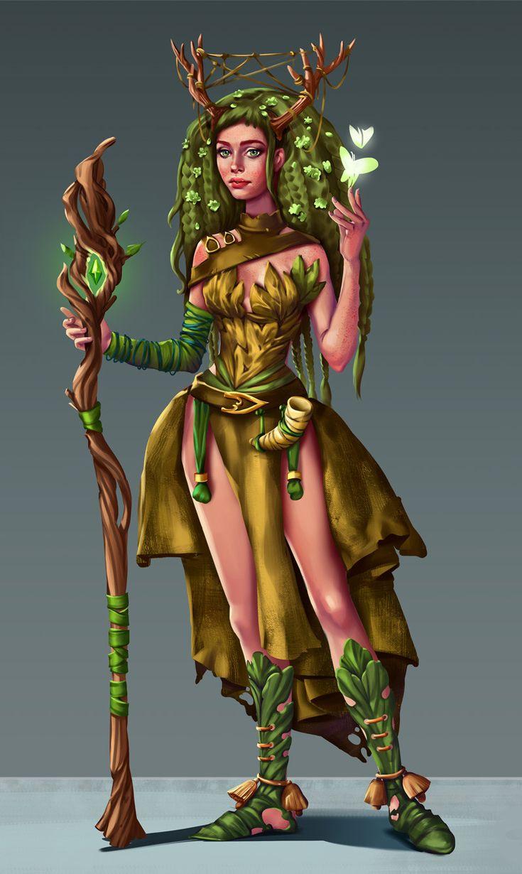 Druidess concept, Corina Stan on ArtStation at https://www.artstation.com/artwork/laEaG