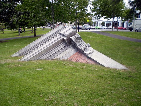 Many Follies Are Consciously Self Deprecating, Like This Monument To  Architecture From Auckland,