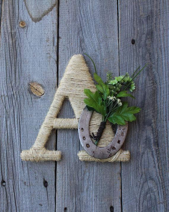 Rustic Wrapped Letter A  Rustic Letter Country by DreamersGifts