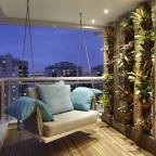 Busca imágenes de Balcones y terrazas de estilo Moderno de BC Arquitetos . Encuentra las mejores fotos para inspirarte y crea tu hogar perfecto.