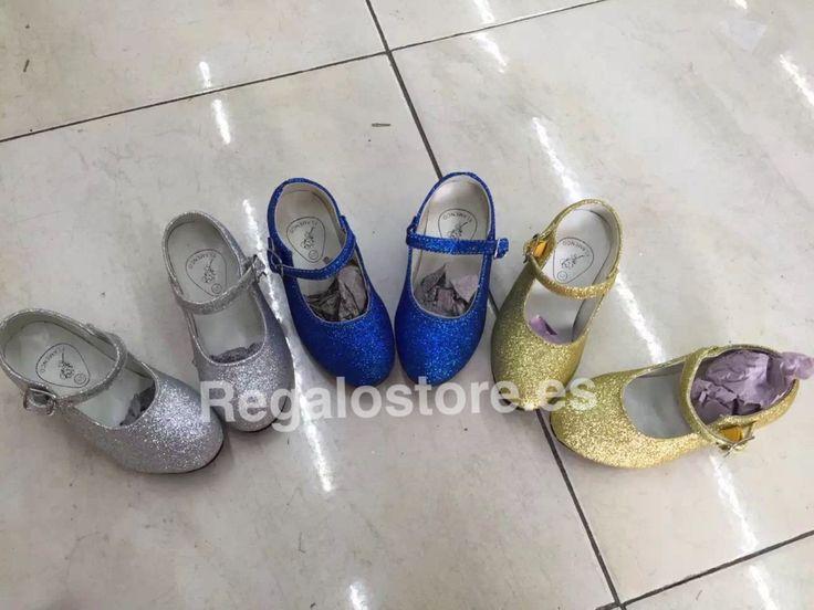 Zapato purpurina