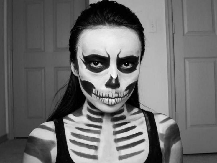 Skeleton makeup Haunted House Stuff Pinterest - Skeleton Halloween Costume Makeup