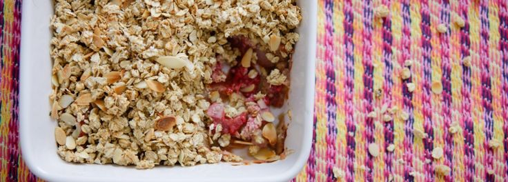 Raspberry and peach crumble | Food | Pinterest
