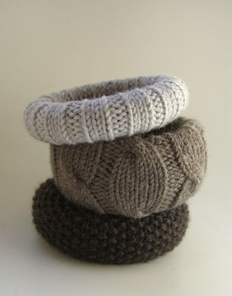 upcycled sweaters - knitted bangles