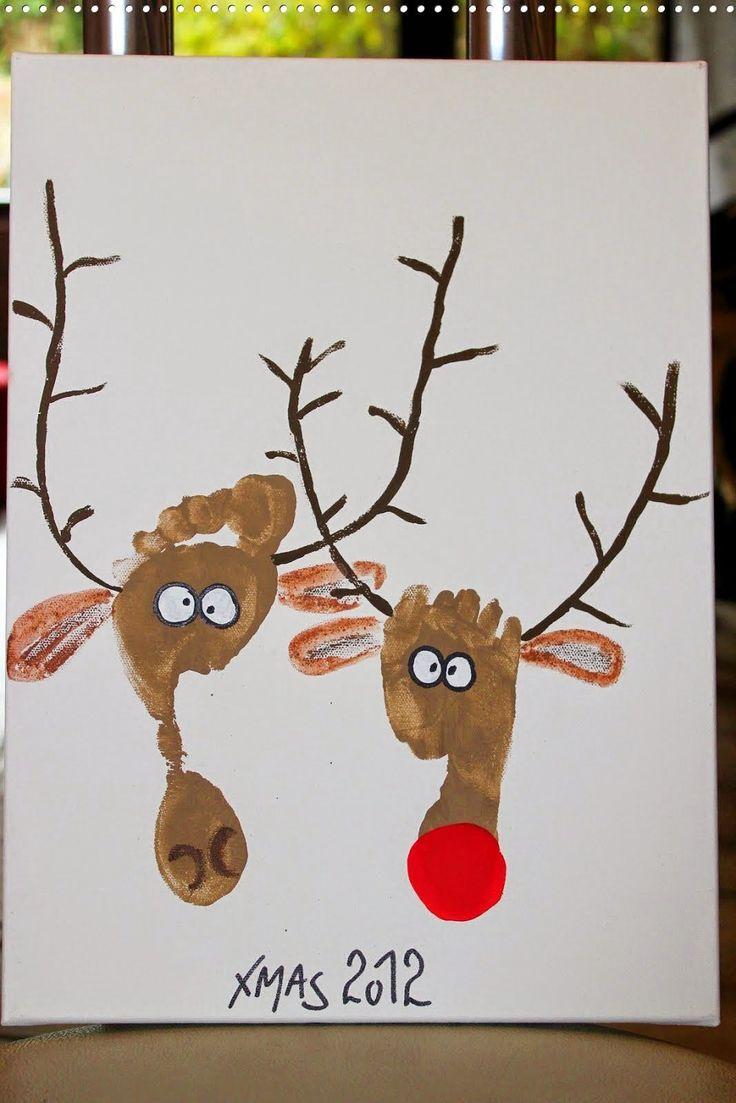 Bereits zum vorletzten Weihnachtsfest habe ich Euch HIER auf dem Blog unsere Elchbilder aus Fußabdrücken vorgestellt. Ich kann Euch also mit...