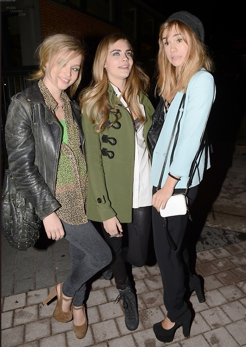 Suki Waterhouse, Cara Delevingne and Georgia May Jagger
