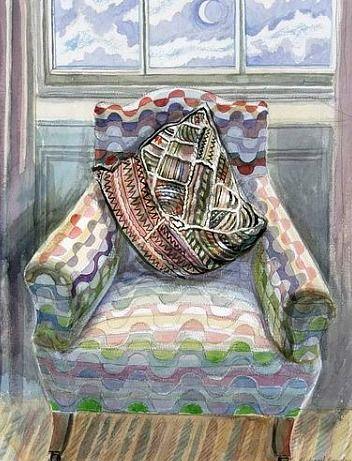 stilllifequickheart:    Richard Bawden  Patterned Chair  21st century