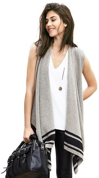 Drapey Open Sweater Vest