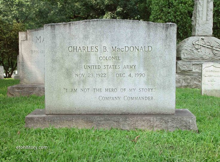 Charles B. MacDonald's grave at Arlington National Cemetery, Section 1, Grave 88-2