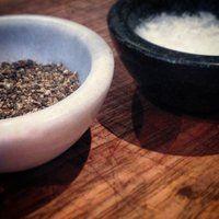 Marble Bowl Set - Black & White - Annabell Stone