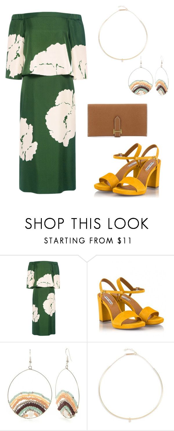 """I HAVE BECOME OBSESSED WITH EARRINGS"" by alondraoa on Polyvore featuring TIBI, Fratelli Karida, Red Camel, Zoë Chicco and Hermès"