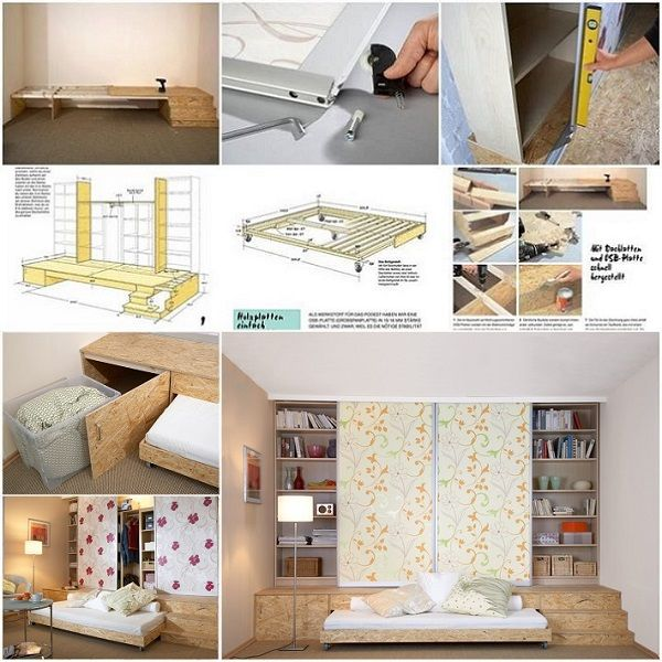 1000 Ideas About Hidden Bed On Pinterest Wall Beds